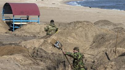 Украинские военные провели учения по обороне побережья Азовского моря