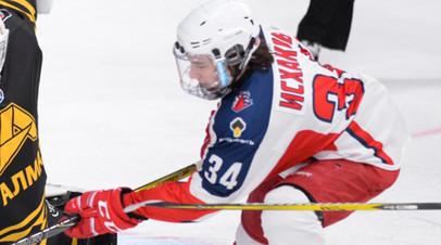 Российский хоккеист Исхаков госпитализирован после силового приёма в матче NCAA