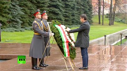 Премьер-министр Италии Джузеппе Конте возложил венок к Могиле Неизвестного Солдата