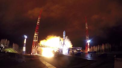 Видео запуска ракеты-носителя «Союз-2.1б» с навигационным спутником ГЛОНАСС-М