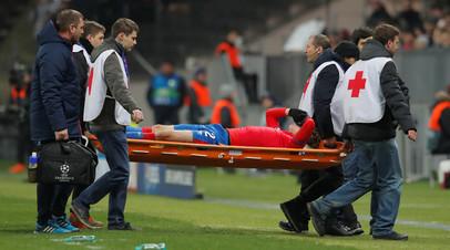 Фернандес получил травму во время матча Лиги чемпионов ЦСКА — «Рома»