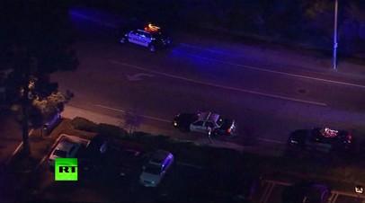 Видео из пригорода Лос-Анджелеса, где произошла массовая стрельба в баре