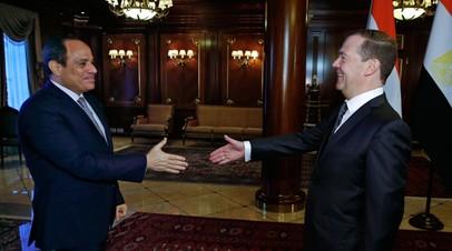 В МИД рассказали о возможности встречи Медведева и президента Египта в Палермо