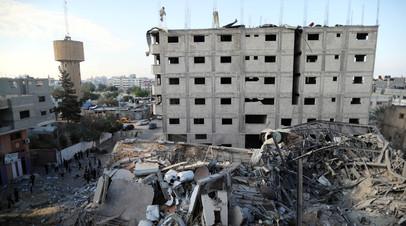 Израильские ВВС нанесли удар по зданию военной разведки ХАМАС