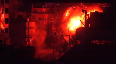 Израиль нанёс удары по 150 объектам в секторе Газа