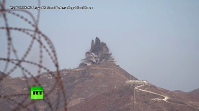 КНДР уничтожила блокпосты на границе с Южной Кореей