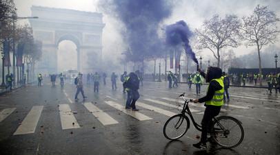 В Париже оценили ущерб от прошедших 1 декабря акций протеста