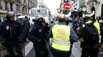 Число задержанных на акции в Париже возросло до 354