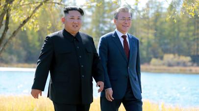 Ким Чен Ын выразил Мун Чжэ Ину желание продолжать развивать отношения