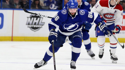 Кучеров признан второй звездой игрового дня в НХЛ