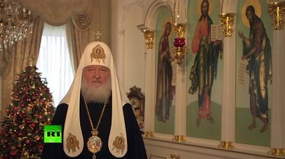 Патриарх Кирилл поздравил верующих с Рождеством Христовым