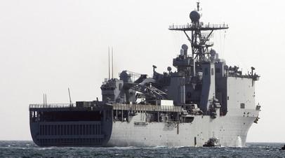 СМИ: Десантный корабль США вошёл в Чёрное море