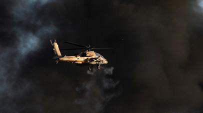 Израиль нанёс удар по военным позициям ХАМАС в ответ на запуск ракеты