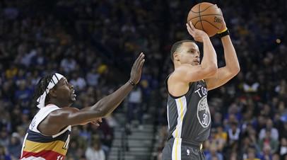 «Голден Стэйт» обыграл «Нью-Орлеан» в матче НБА, Карри набрал 41 очко