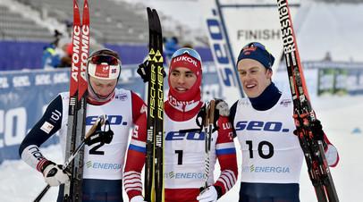 Российский лыжник Терентьев занял первое место в спринте на ЮЧМ в Финляндии