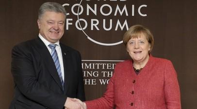 Меркель и Порошенко отметили важность развёртывания миссии ООН в Донбассе