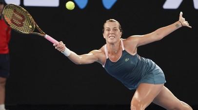 Павлюченкова вышла в 1/4 финала турнира WTA в Санкт-Петербурге, обыграв Остапенко