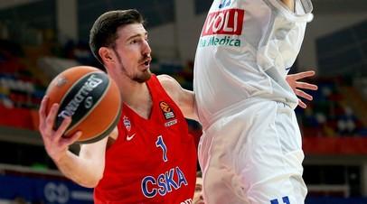 Защитник ЦСКА де Коло признан самым ценным игроком тура в баскетбольной Евролиге