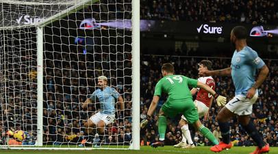Агуэро признался, что забил третий мяч в ворота «Арсенала» рукой