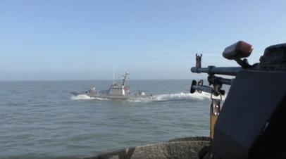 Украинские пограничники провели учения в Азовском море