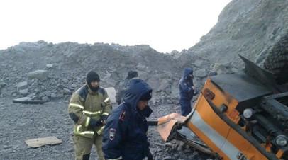 Опубликовано видео с места аварии автобуса в Кемеровской области