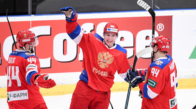 Волевая победа и третий дубль Кузьменко: сборная России по хоккею обыграла Чехию в матче Евротура