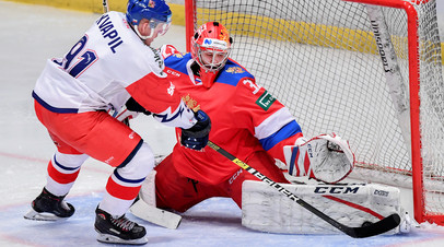 Упрочили лидерство: сборная России по хоккею выиграла у Чехии в матче шведского этапа Евротура