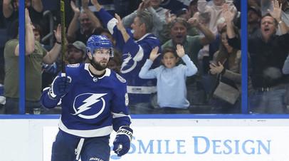Кучеров признан первой звездой игрового дня в НХЛ