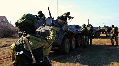 Морпехи ЧФ провели учения по обороне побережья от высадки десанта условного противника