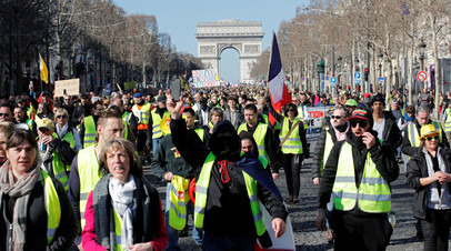 В Париже в ходе акции протеста «жёлтых жилетов» задержаны девять человек