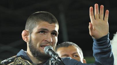 Нурмагомедов поздравил Магомедшарипова и Усмана с победами на UFC 235