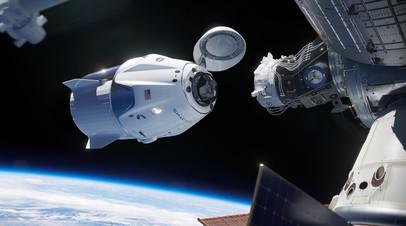 «Роскосмос» поздравил NASA с успешной стыковкой Dragon-2 к МКС