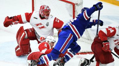 СКА сравнял счёт в серии со «Спартаком» в первом раунде плей-офф КХЛ