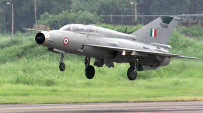 Опубликовано видео с места крушения МиГ-21 в Индии