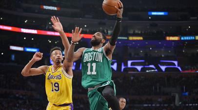 «Бостон» нанёс «Лейкерс» пятое поражение подряд в НБА, Джеймс оформил трипл-дабл